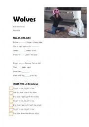 English Worksheet: song  ,