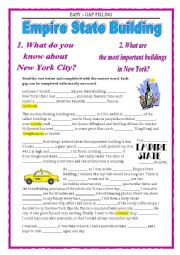 English Worksheet: EASY - GAP FILLING - EMPIRE STATE BUILDING