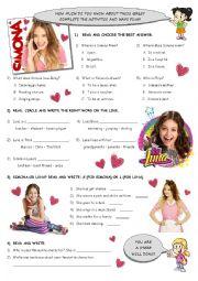 Activities based on SIMONA and SOY LUNA