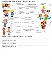 Verb Be: positive and negative sentences