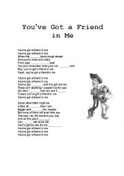 English Worksheet: Song - You´ve got a friend in me (B1/B2 level)