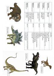 English Worksheet: worksheet for writing (about dinosaurs)