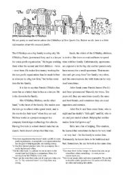 English Worksheet: Reading for adults: Introducing the O�Malleys