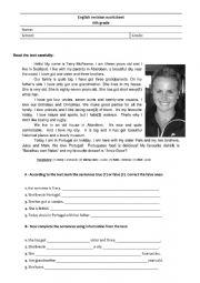 English Worksheet: Revision worksheet for 6th graders