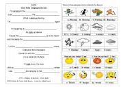 English Worksheet: Oral comprehension Singing in the rain