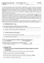 English Worksheet: global test