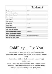 ColdPlay … Fix  You