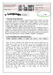 English Worksheet: 9 FORM MID TERM TEST language and listening http://www.passporttoenglish.com/Advanced-English/Lesson5/Dialog.html