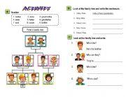family members / possessive adjectives / possessive nouns