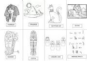 English Worksheet: Egypt Vocabulary for painting