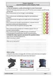 Lesson E3: Business Letters: Enquiry / Reply