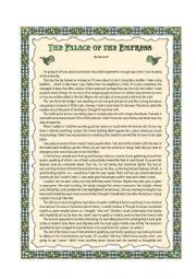 English Worksheet: The Palace of the Empress