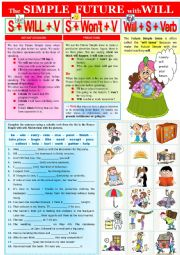 English Worksheet: Grammar - Future Simple Tense  +  KEY