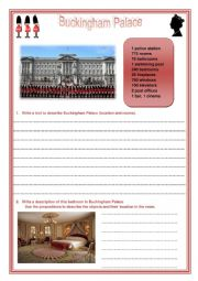 Worksheet Buckingham Palace