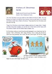 English Worksheet: History of Christmas cards