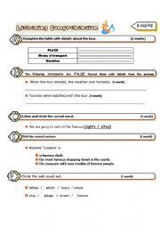 English Worksheet: Listening comprehension