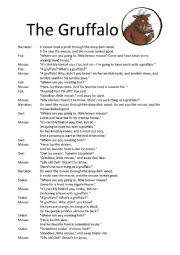 English Worksheet: The Gruffalo - Play
