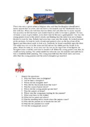 English Worksheet: The Bee