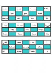 vocabulary bingo game