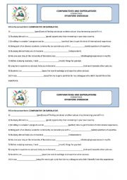 English Worksheet: Degrees of adjectives - Studying abroad