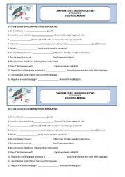 English Worksheet: Degrees of adjectives - Studying abroad 2