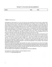 English Worksheet: writing about globalization
