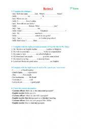 English worksheet: review 2