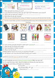 English Worksheet: Pocket money. M1_L4 9th form Tunisian pupils