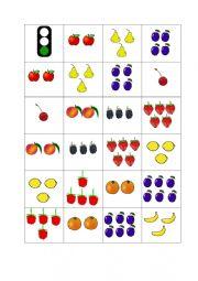 English Worksheet: Fruit domino