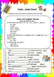 English Worksheet: Simple Present (negative and interrogative forms)