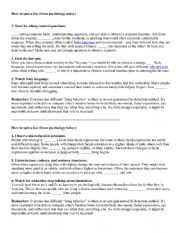 English Worksheet: How to spot a liar