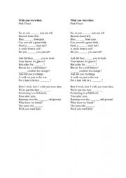 English Worksheet: Wish You Were Here Fill in the Gaps