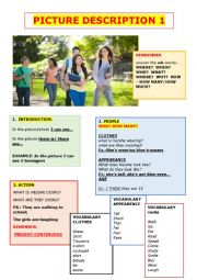 English Worksheet: PICTURE DESCRIPTION 1