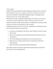 English Worksheet: Act Your Wage