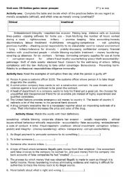 English Worksheet: ethics in business- vocabulary