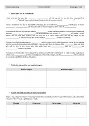 English Worksheet: Martin Luther King�s speech : I have a dream