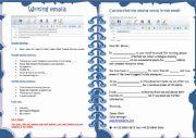 English Worksheet: Writing email