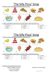 English Worksheet: �The Silly Pizza� Song