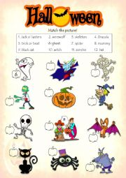 Halloween - Match the picture