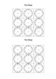 English Worksheet: time bingo worksheet