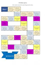 English Worksheet: Articles- board game