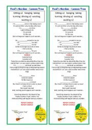 English Worksheet: YELLOW LEMON TREE
