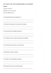 English Worksheet: Time words