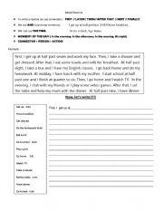 English Worksheet: Model Routine