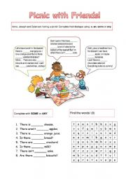 English Worksheet: Picnic with friends!