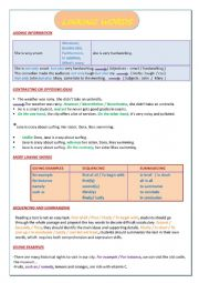 English Worksheet: LINKING WORDS: ADDITION, OPPOSITION  AND CONTRAST