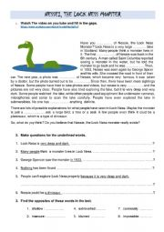 Loch Ness Monster; Opinion Essay