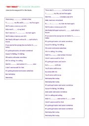 English Worksheet: Song NOT TODAY by Imagine Dragons to listen and fill in the blanks