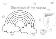 English Worksheet: The colours of the rainbow