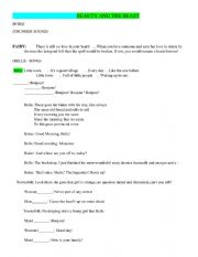 English Worksheet: Beauty and the Beast